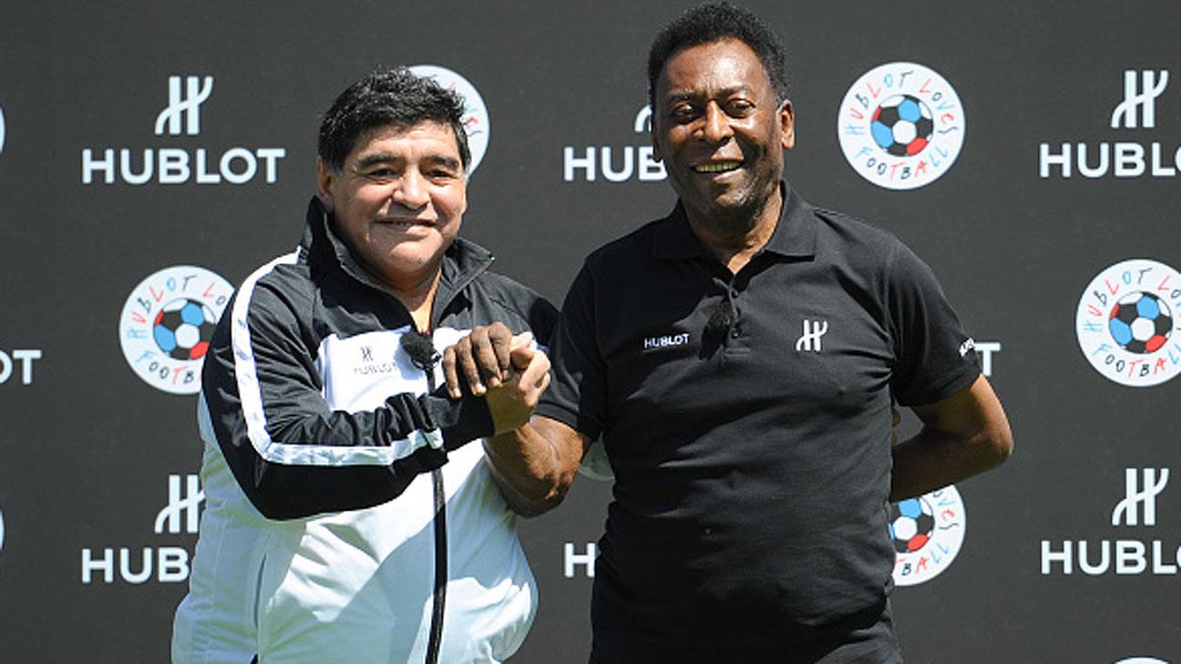 Permalink to: Maradona och Pelé toppar listorna genom tiderna